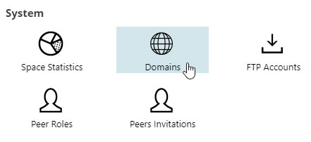 Hosting Spaces Domains Icon