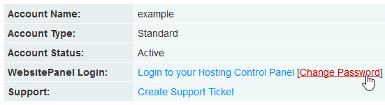 Hosting Account Status