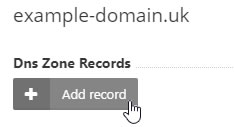 Add DNS Zone Record