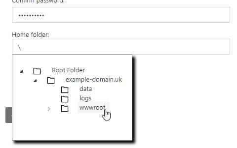 FTP Home Folder