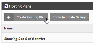 Create Hosting Plan