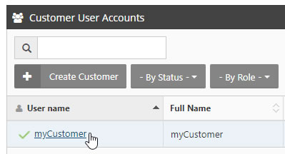 Select Customer Account