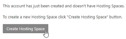 Create Hosting Space