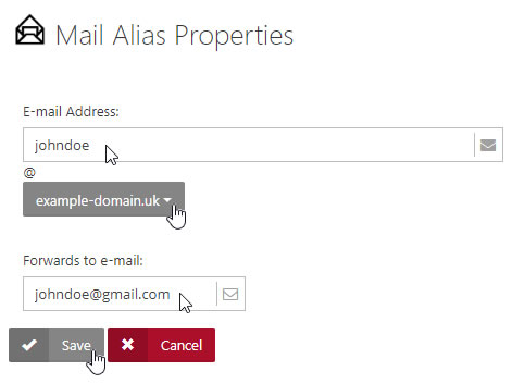 Mail Alias Properties