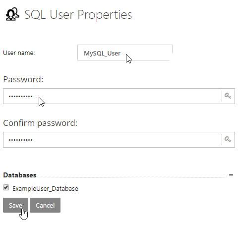 mySQL User Properties