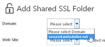 Shared SSL FolderDomain