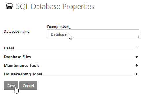 SQL Database Properties