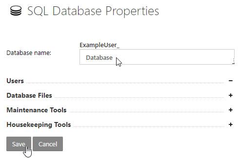 SQL Database Properties