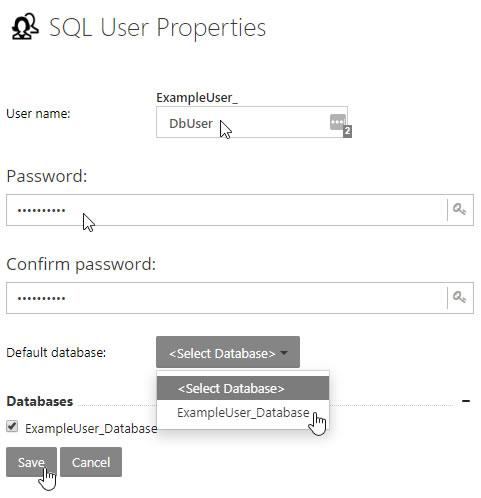 SQL User Properties