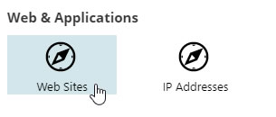 Hosting Spaces Web Sites Icon