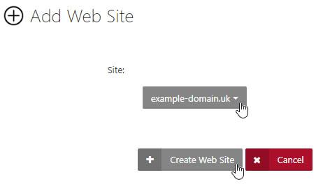 Add Web Site