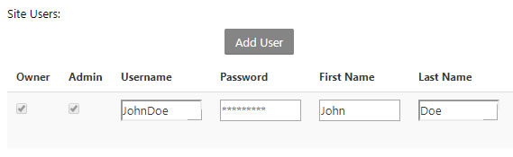Username and Password Dialog