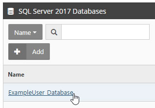 Click on Database Name