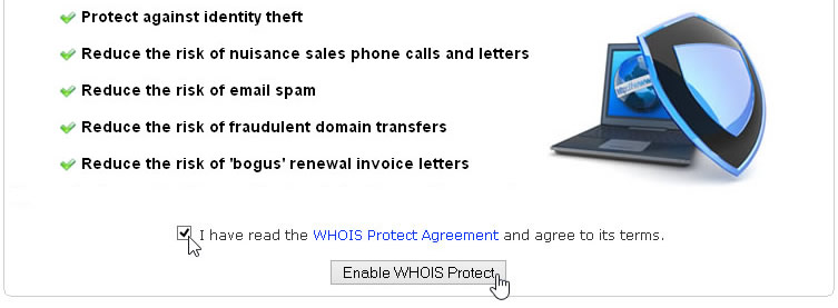Enable WHOIS Protect