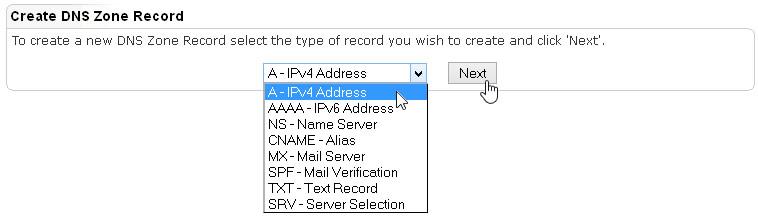 Create DNS Zone Record