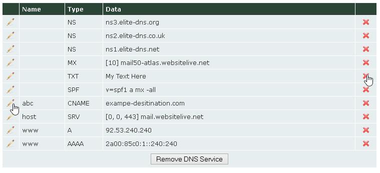 DNS Zone Editor