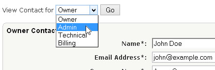 Change Contact Type