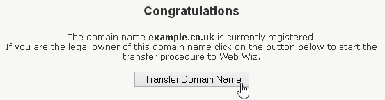 Domain Name Transfer Check